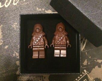 LEGO Star Wars cufflinks - Chewbacca cufflinks - Wedding cufflinks - Groomsmen gift - best man gift - Father's Day gift.