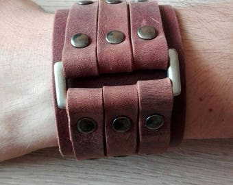 Leather bracelet/Lederarmband - 100% genuine Argentinian leather
