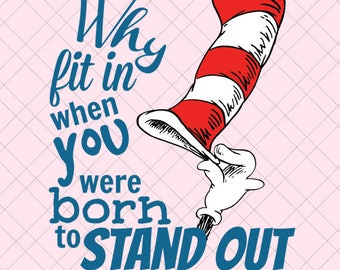 Dr. Seuss Inspiration Quote PNG/ Dr. Seuss Inspiration EPS/ Dr. Seuss QuotePDF/Dr. Seuss