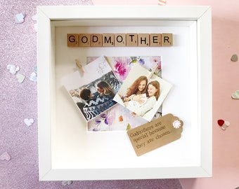 Godmother Frame - Godparent Gift - Fairy Godmother - Christening Gift - Baptism Gift - Gift for Godmother - Goddaughter - Godson - Godmother
