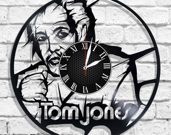 Tom Jones singer desing wall clock, Tom Jones wall poster