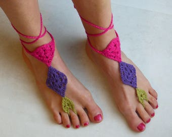 Reserved - Skin barefoot sandals Crochet Barefoot jewelry