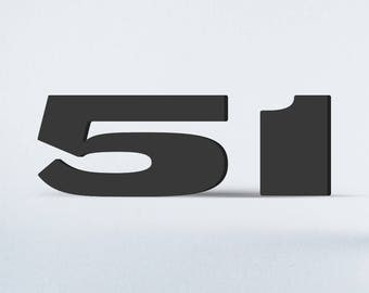 Flat Cut Acrylic House Numbers - Woodtype Gothic Extended