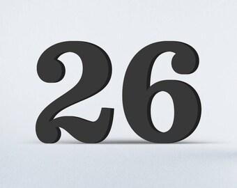 Flat Cut Acrylic House Numbers - Sentinel Bold