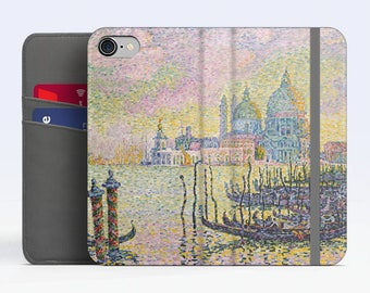 """Paul Signac, """"Grand Canal"""". iPhone 8 Wallet case, iPhone 7 Wallet case  iPhone 6 Plus Wallet case. Samsung Wallet cases."""