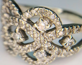1 Carat 14k White Gold Diamond Ring Size 7