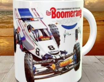 Boomerang Coffee Mug with optional Keychain, Vintage Model, gift for hobby lover, radio controlled car, RC Model  Coffee Mug, Gift for Him