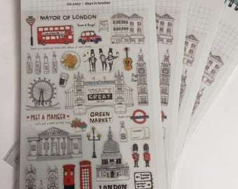 London Day Out Stickers