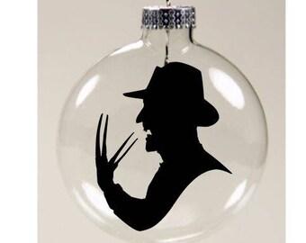 Freddy Krueger Nightmare on Elm Street Christmas Ornament Glass Disc Holiday Horror Black Friday Merch Massacre