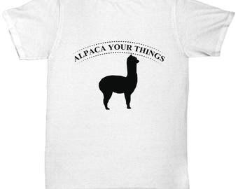 Alpaca Tee Shirt- Cool Tee Shirt Graphic Design