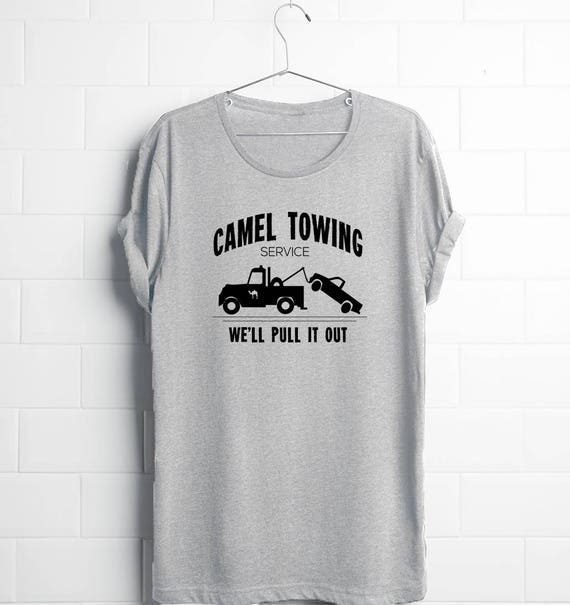 Funny Tees Guys Shirts Teen Guy Camel Towing Shirt Guys