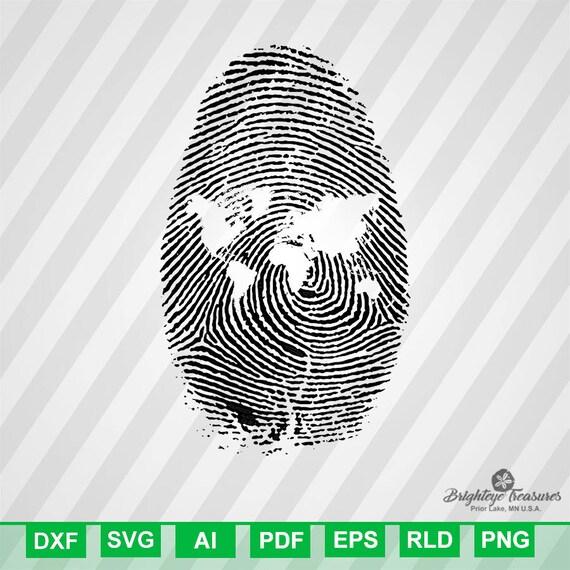World map finger print dxf svg ai pdf eps rld rdworks png jpg world map finger print dxf svg ai pdf eps rld rdworks png jpg and wmf print files digital cut vector file svg file cricut svg silhoue from gumiabroncs Images