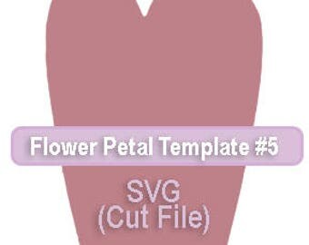 Paper Flower Template #5 SVG file