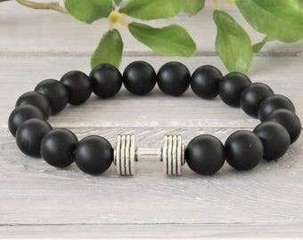 Gemstone Beaded bracelet, stretch pile bracelet