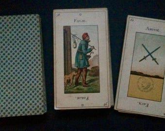 Old Parisian Tarot Grand Etteilla Egyptien 78 Cards c.1890 B.P. Grimaud France