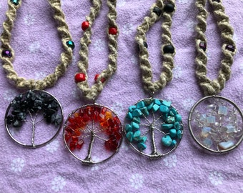 Tree of Life Hemp Necklaces