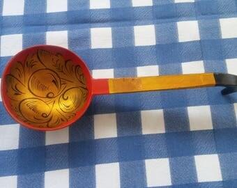 Vintage Russian Wooden Spoon Khokhloma
