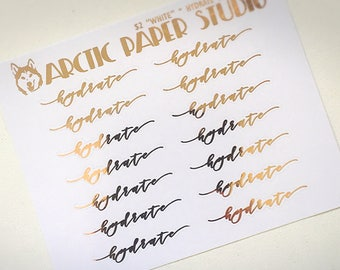 Hydrate - SCRIPTS - FOILED Sampler Event Icons Planner Stickers