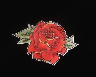 Rose sticker autocollant