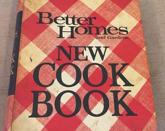 Better Homes and Gardens New Cook Book, 1968, Kitchen, Recipes, Plaid