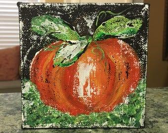 Pumpkin Painting, pumpkin art, fall art, pumpkin decor, fall decor