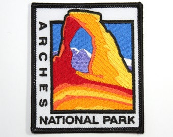 Official Arches National Park Souvenir Patch - Delicate Arch - Moab Utah FREE SHIPPING Scrapbooking
