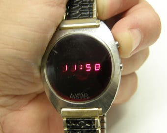 Vintage Avatar Litronix Digital Watch - Works