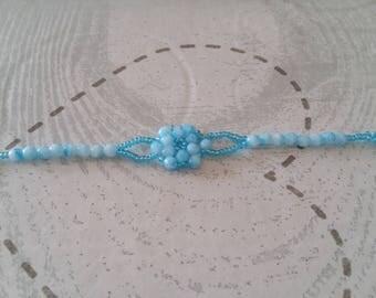 Bracelet little girl blue marbled