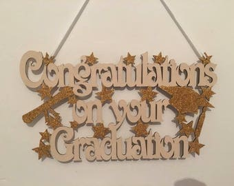 Graduation gift, congratulations on your graduation, graduation plaque, wooden plaque