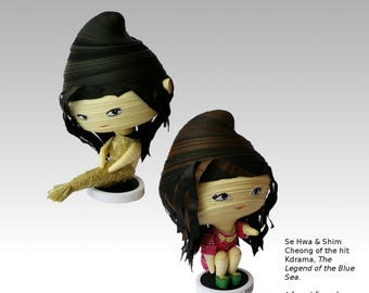 K Drama Pop Art: Jun Ji Hyun in The Legend of the Blue Sea (푸른 바다의 전설). A limited edition designer toy by S'VELTE.