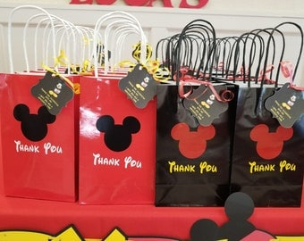 Mickey Mouse goody bags, Mickey Mouse goodie bags, Mickey Mouse favors, Mickey Mouse birthday, kids birthday goodie bags