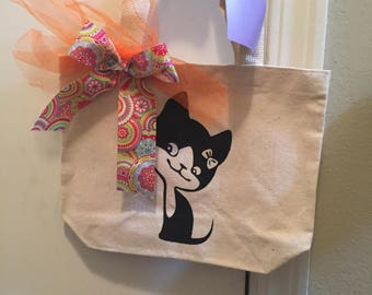 Cute Custom canvas tote bag