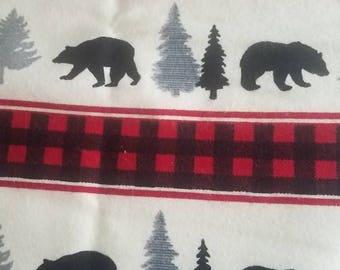 Plaid bears book sleeve