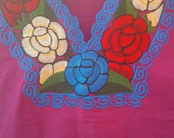 Mexican Embroidered blouse size Extra Large
