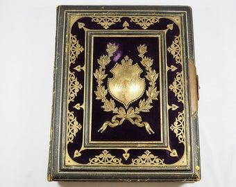 Antique Photo Album 19 Century