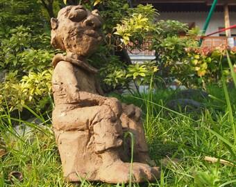Garden Gnome, Smoky, statue, garden sculpture, outdoor artwork, Ceramic, Nain jardin