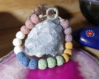 Multicolor Lava Stone Bracelet