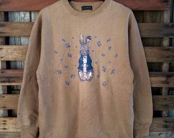 Vintage 90s very cute bugs bunny rabbit sweatshirt deadstock !!!