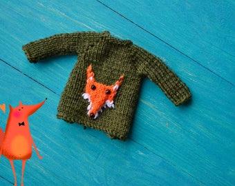 Blythe Sweater, Blythe Clothes, Blythe Clothing, Blythe Outfit, Blythe Crochet, Blythe Knitted Sweater,Blythe Green Clothes, Blythe Cardigan