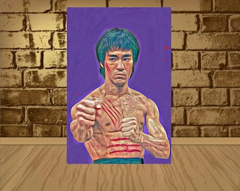 bruce lee poster,bruce lee print,bruce lee art,home decor,painting print,wall art,movie poster,movie art,movie print,kung fu art,artwork,art