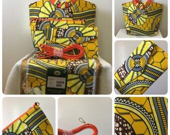 High Quality women hand bag african Vlisco prints fabric Super Wax (4pieces)