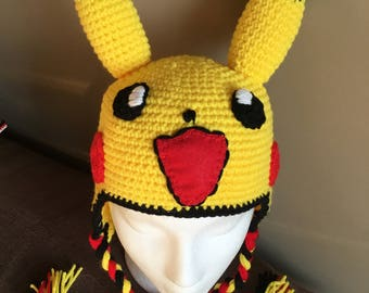 Crochet  hat Pikachu for kids
