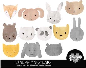 COD59-80% OFF SALE cut animals watercolor clipart,animals clipart,clipart for scrapbooking,commercial use,vector graphics,digital clip art