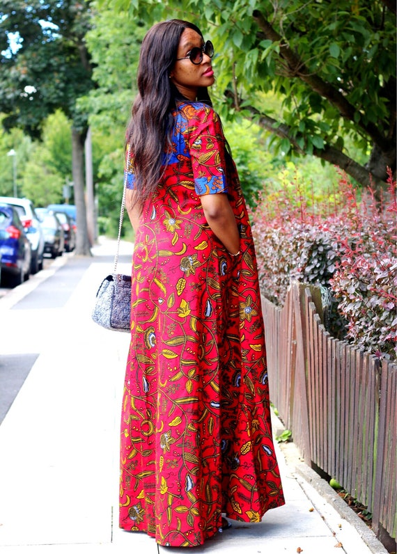African prints Ankara maxi dress women's dress