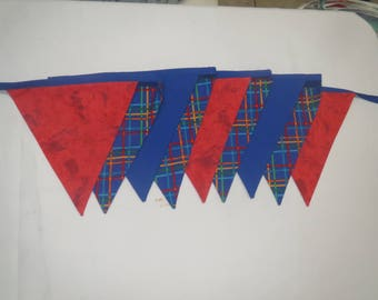 Plaid Bunting/ Fabric Bunting/ Party Decoration/ Party Flags/ Bunting/ Decoration