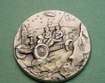 Space Medal Apollo 15  Aug 1971 Exploration Mint Cond. 32mm White Metal 32mm Minted in ITALY Low Mintage<># ET3475
