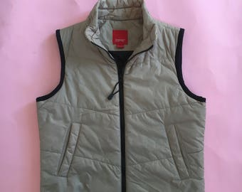 Vintage Esprit zip up puffy vest