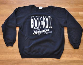"""Vintage 1990s Steamboat Austin """"17 Years"""" Crew Sweatshirt // XL // Made in USA // Fifty fifty // ATX // SxSW // Band // Austin City Limits"""