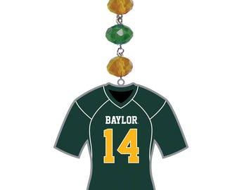 BAYLOR UNIVERSITY *Jersey* MAGNETIC Ornament,Baylor Decor, Baylor Bears Decor, Baylor Ornament, Baylor Football, Sic Em Bears, Bu