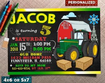 Tractor Birthday Invitation, Tractor Invitation, Farm Invitation, Printable Invitation, Tractor Party, Tractor Birthday, Farm Birthday